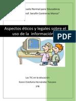 Aspectos Éticos y Legales Sobre El Uso de La Información Digital Ene
