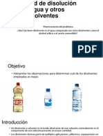 Capacidad de Disolución Del Agua y Otros Disolventes