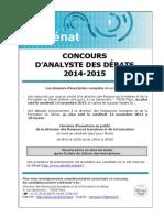 Brochure Analyste Externe 2014