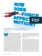 How Does Force Affect Motion