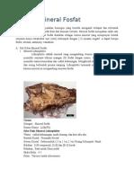 Mineral Mineral Fosfat