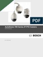 AutoDome 700 Series IP PTZ Camera - Guía Del Usuario