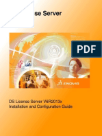 DS LicenseServerV6R2013x InstallationAndConfigurationGuide