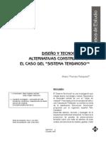 DISEÑO Y TECNOCULTURA ALTERNATIVAS CONSTRUCTIVAS