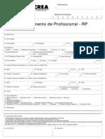 Requerimento de Profissional - Rp