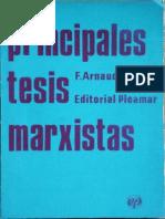 Principales Tesis Marxistas  (Arnaudo Jose)