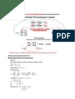 2.4 Sistem Persamaan Linier