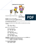 Compative Adjectives Lesson Worksheets