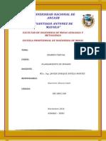 Examen Parcial de Planeamiento de Minado