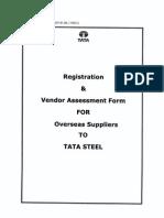 Registration & Vendor Assesment Form