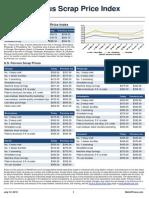 Ferrous Scrap Price Index Report