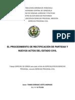 Rect Actas Reg Civil en Venezuela