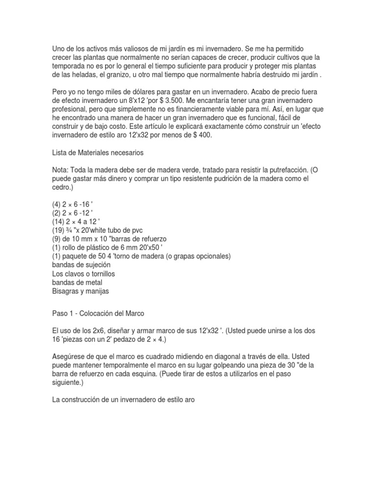 Vistoso Invernadero Marco De Madera Foto - Ideas Personalizadas de ...