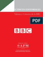 Directrices editoriales - Valores y Criterios de la BBC