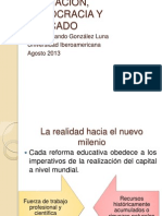 Educación, Democracia y Educación