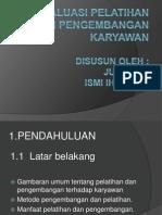 Evaluasi Pelatihan Dan Pengembangan Karyawan 2003
