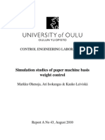 Simulation Studies of Paper Machine Basis Weight Control. August 2010