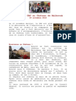 Visite CMJ Château de Malbrouk