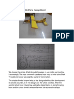 Rc Plane Design Report