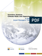 Investors Analyze Climate Risks and Opportunities