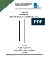 Transistor Sebagai Elka Daya
