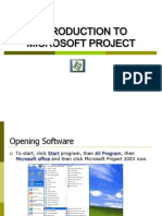 Introduction on Microsoft Project