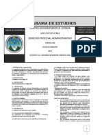 Derecho Procesal Administrativo Código 240