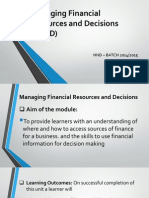 Sources Of Finance - MFRD