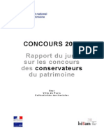 Rapport Concours 2012