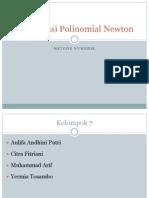 Interpolasi Polinomial Newton