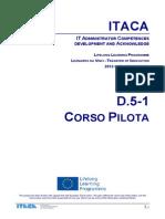 Itaca project - Pilot course report