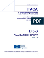 Itaca project - Validation report