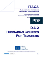 Itaca project - Report on Hungarian Courses