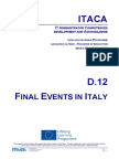 Itaca project - Report on Final Events in  Italy