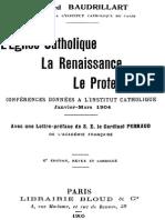L Eglise Catholique, La Renaissance, Le Protestantisme 000000603