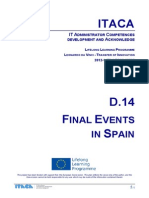 Itaca project - Report on Final event in Spain