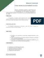 Refuerzo Conductual Tercer Ciclo de Primaria 2014