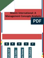 Maxim International Management Structure