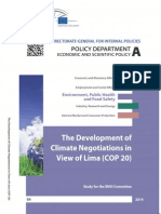 """The development of climate negotiations in view of Lima"" (COP20). By ENVI Committee"