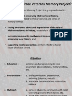 MVMP Presentation -Veteran Town Hall Mtg - Nov 2014