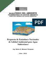 Estandares Nacionales de La Calidad Del Agua en el Peru