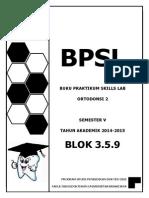 BPSL Blok 9 2014 Booklet