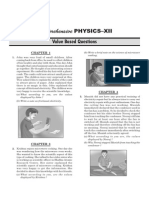 Value Based Questions Physics- XIIth