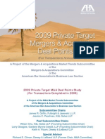 2009 Private Target MA Deal Points Study