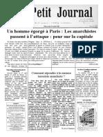 Petit Journal 26 Aout 1881, Scénario l'Accusateur