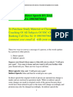 Direct and Indirect Speech by DAS SIR,KOLKATA (09038870684)