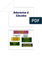 Behaviorism and Education