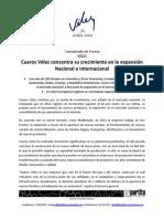 Comunicado de Prensa Cueros Velez Marzo 2013