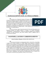 Josep Corominas - Conferencia Sobre La Masoneria