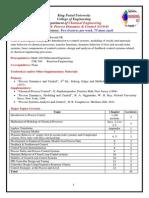 CHE 404 Fall 2014 Detailed Syllabus